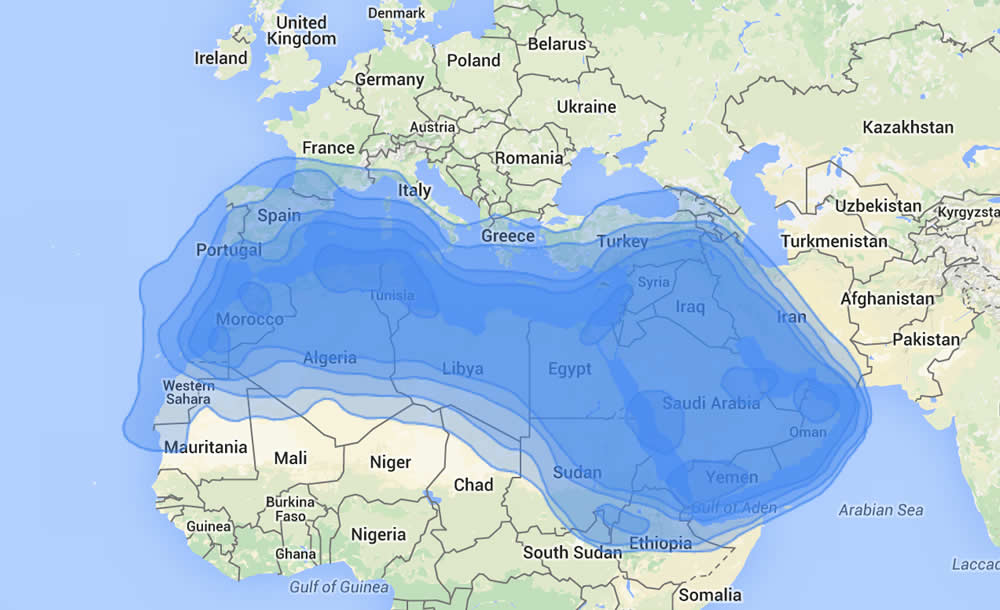 Arabsat BADR-4: Middle East, and North Africa